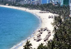 Vietnam beach break in Nha Trang